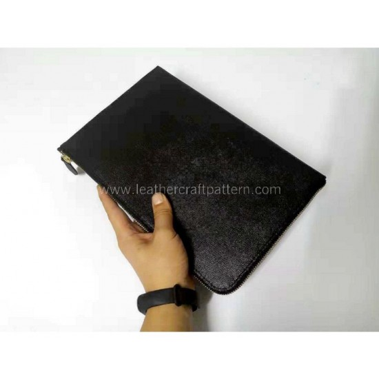 With instruction - Leather clutch pattern PDF instant download LWP-40