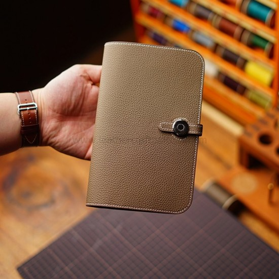 With 132 pictures detailed instruction Hermes Dogon Duo long wallet pattern pdf download LWP-43