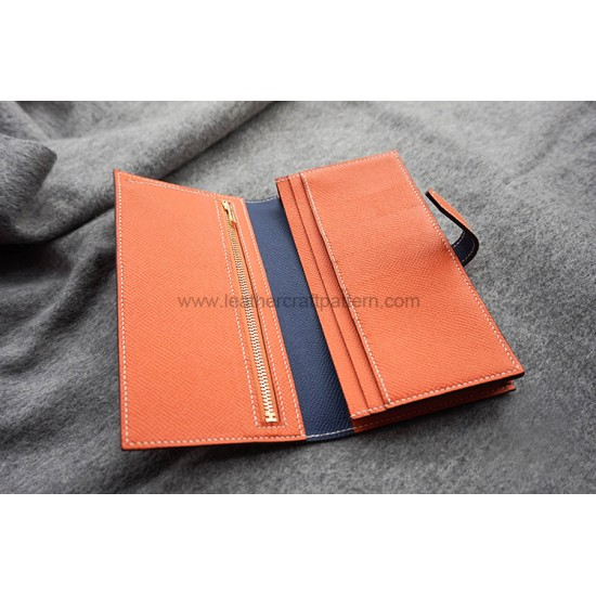 With 270 pictures detailed instruction Hermes Bearn long wallet pattern pdf download LWP-44