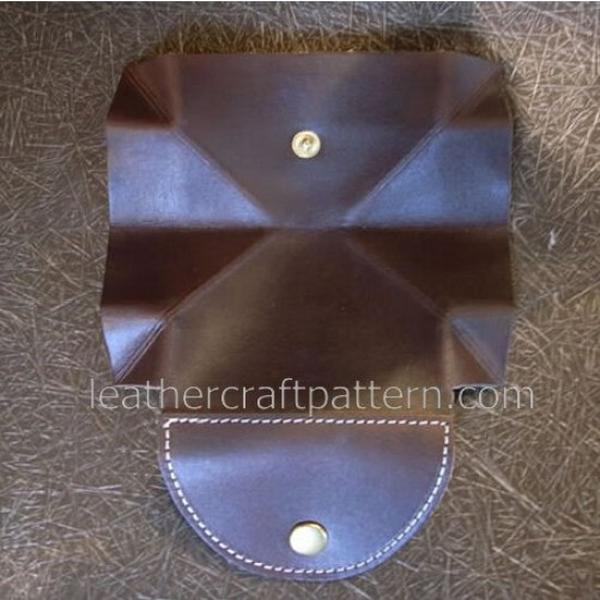 Leather wallet pattern, coin purse pattern, SLG-09, PDF instant download, leathercraft patterns, leather craft patterns, leather patterns, leather template