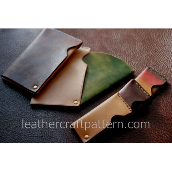 Leather patterns, card case pattern, SLG-10, PDF instant download, leather craft patterns, leather patterns, leather template
