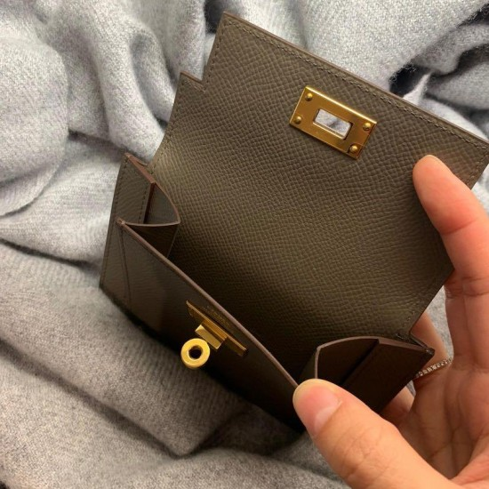 (No instruction now) 2020 Hermes Kelly pocket compact wallet pattern PDF instant download SLG-104