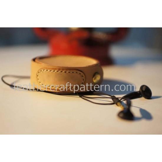 Bag sewing pattern earphone case pattern coin purse pattern leathercraft patterns SLG-18
