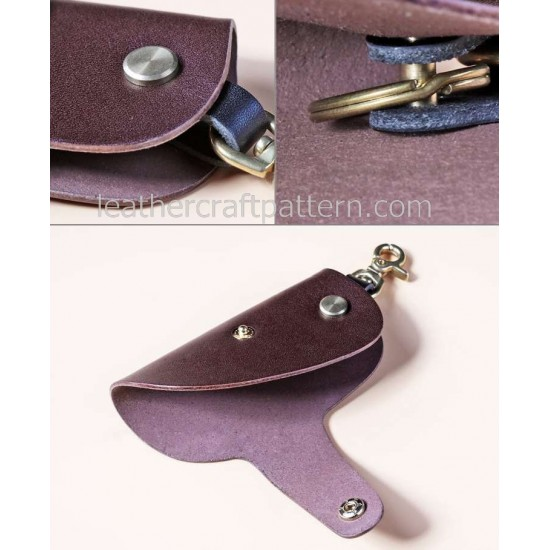 3 in 1 Sewing patterns key purse key case key holder patterns leather bag patterns PDF instant download SLG-29 LCP design