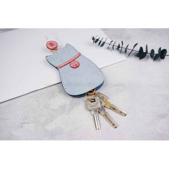 Leather key sleeve pattern PDF instant download SLG-66