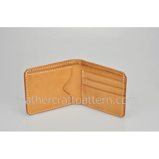 Leather wallet pattern, SWP-01, billfold, short wallet patterns, PDF instant download, leathercraft patterns, leather craft patterns. leather working template