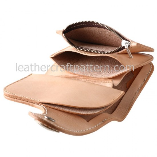 bag sewing pattern short wallet pattern PDF SWP-05 leather craft leather working leather working patterns bag sewing