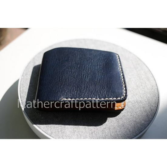 Bag sewing patterns short wallet patterns PDF instand download SWP-07 leather craft leather working pattern