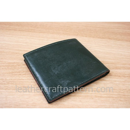 Leather wallet patterns short wallet patterns PDF SWP-09 leathercraft pattern leather tutorial leather bag instruction