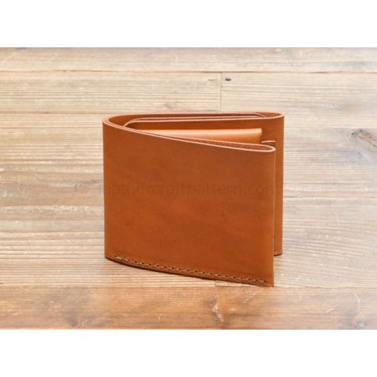 With instruction leather short wallet pattern PDF instant download SWP-13