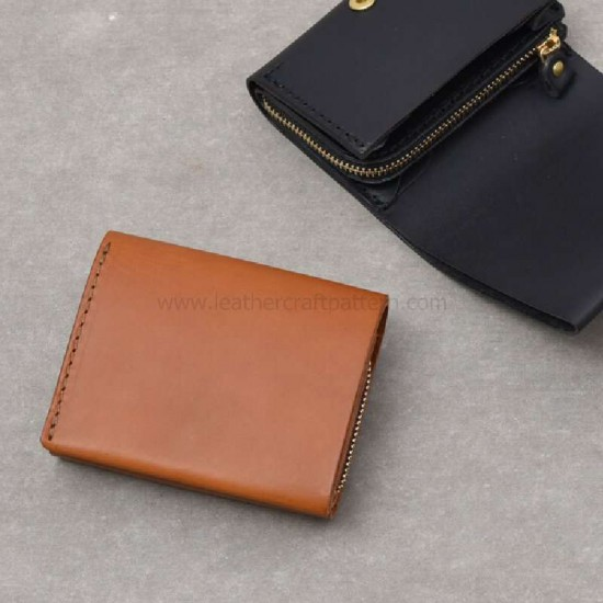 With instruction Leather short wallet billfold pattern pdf download SWP-33