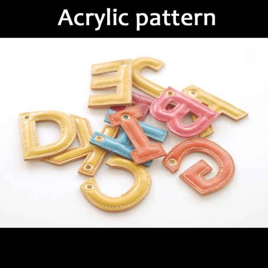 Laser cut Acrylic template, PMMA pattern, 26 alphabet template, A-107