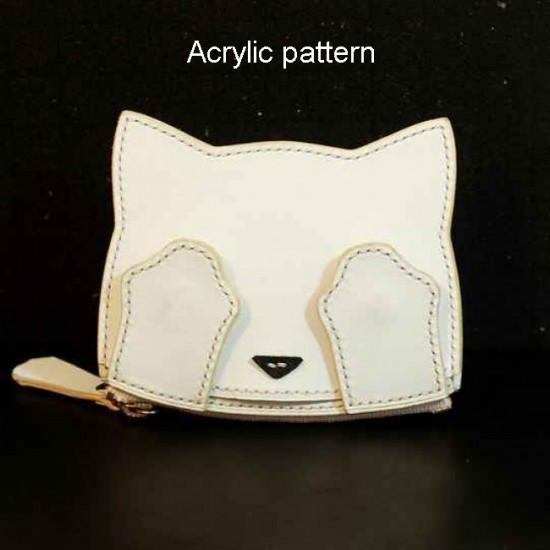 With instruction - Laser cut Acrylic template, cat card holder pattern, A-111