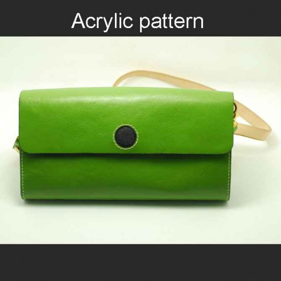 With instruction - Laser cut Acrylic template, sling bag template, A-121
