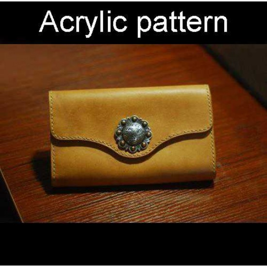 With instruction - Laser cut Acrylic template, long wallet pattern, A-126