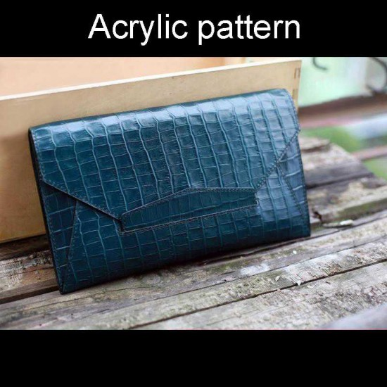With instruction - Laser cut Acrylic template, Envelope clutch pattern, A-127