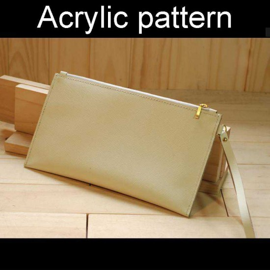 With instruction - Laser cut Acrylic template, Clutch pattern, A-128