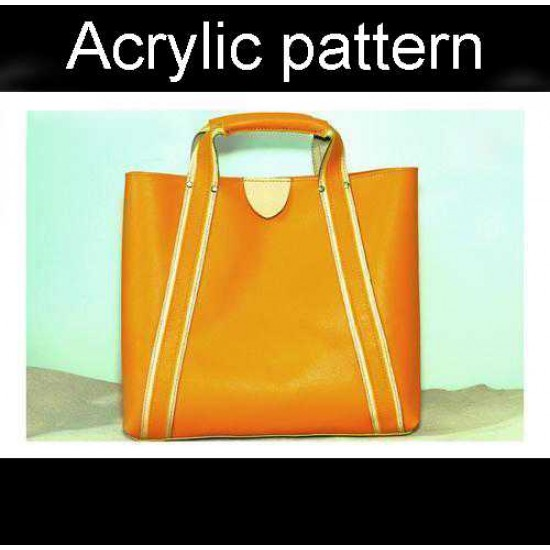 With instruction - Laser cut Acrylic template, Tote bag pattern, A-129