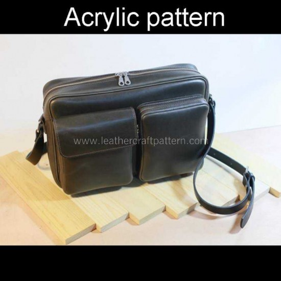 With instruction - Laser cut Acrylic template, brifecase pattern, A-131