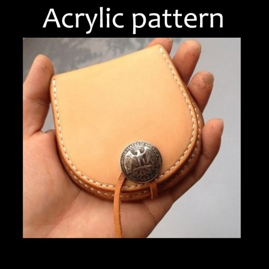 Laser cut Acrylic template, PMMA pattern, coin purse template, A-26