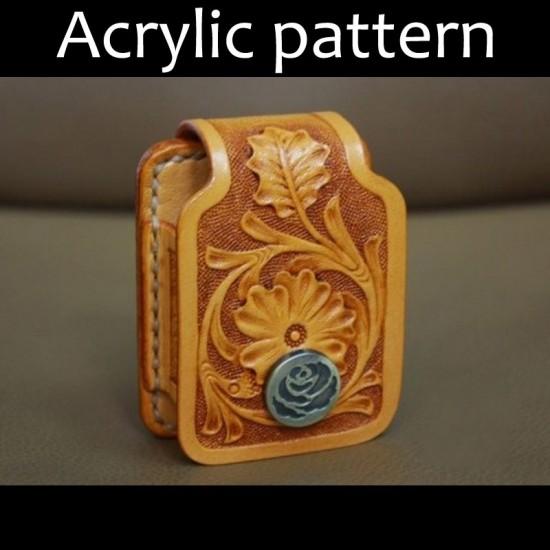 Laser cut Acrylic template, PMMA pattern, zippo lighter case template, A-31