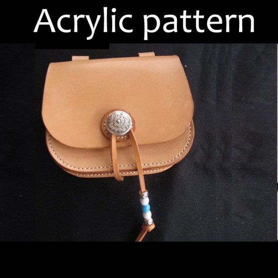 Laser cut Acrylic template, PMMA pattern, waist bag template, A-46