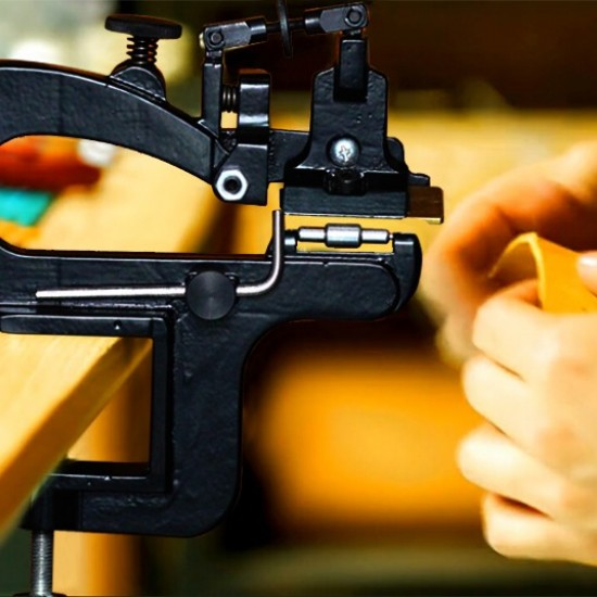 Free shipping worldwide-Cowboy Deluxe leather paring device kit, leather skiving machine, leather skiver