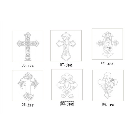 Free download Crossing carving pattern No.20