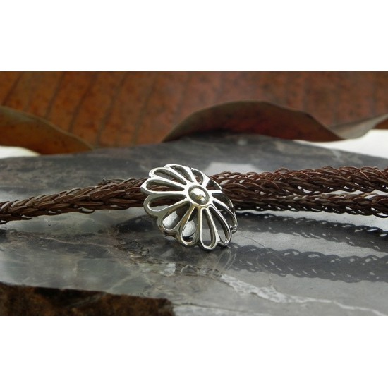 Concho button - silver hollow chrysanthemum- Bracelet Accessory - Key Hook- Leathercraft Supplies- Leather craft Ornament Decoration