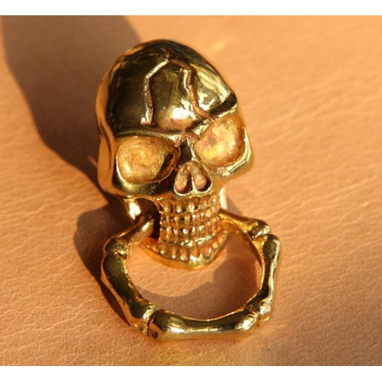 Concho button - Copper Skull button- wallet Accessory - Key Hook- Leathercraft Supplies- Leather craft Ornament