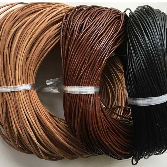 Round Leather lacing cord leather strip leather rope