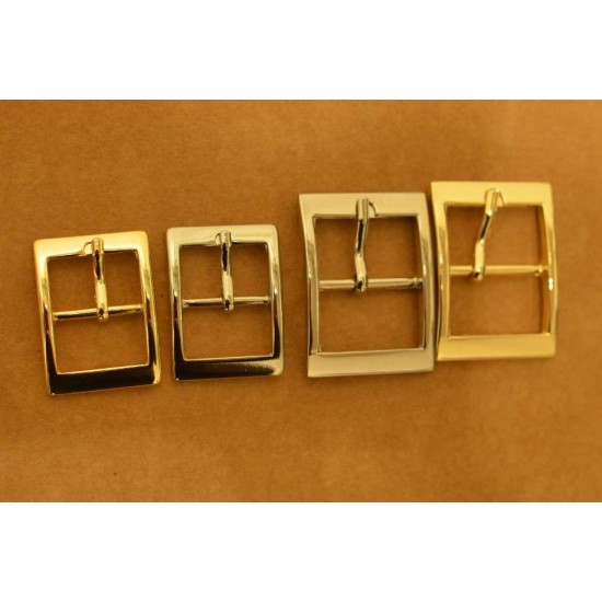 8pc/lot, Gold and silver kirsite strap buckle, inner diameter 20mm, 25mm