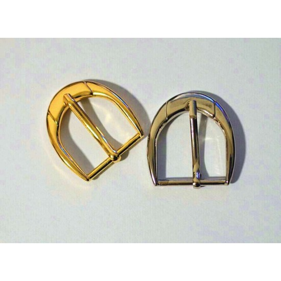 8pc/lot, Gold and silver kirsite Heel Bar Buckle, inner diameter 3cm, Y1402-30mm