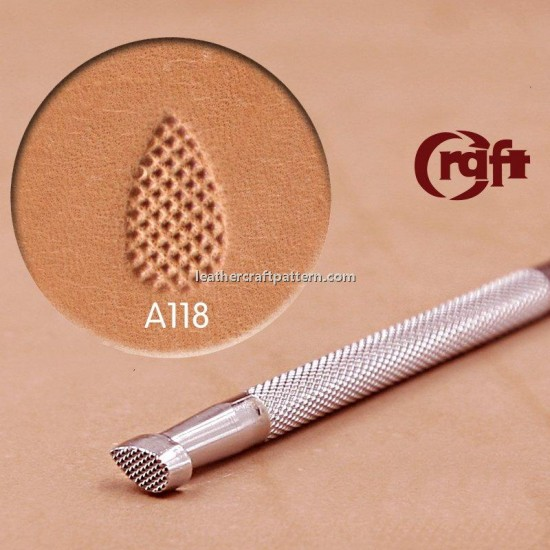 leathercraft tool Thumbprint Craft Japan A118  leather tooling Pear Shader Stamp