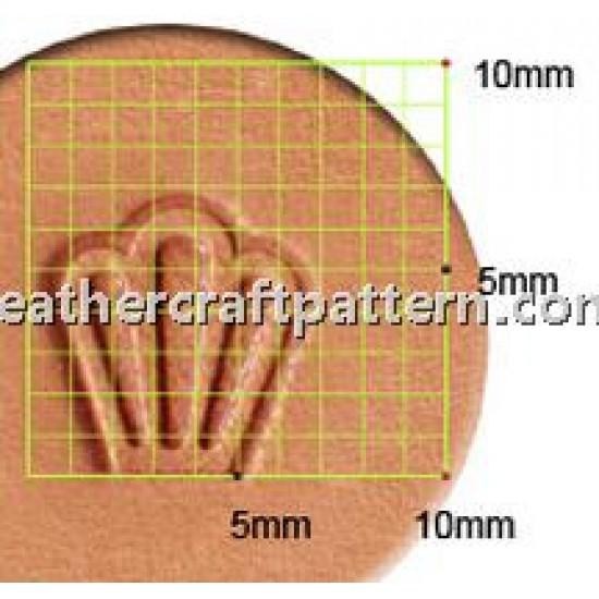 leathercraft tool leather stamp Craft Japan Stamp Flower Petal Y653 leather tools