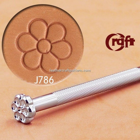 leathercraft tool leather stamp Craft Japan Center Flower Stamp J786 leather tools
