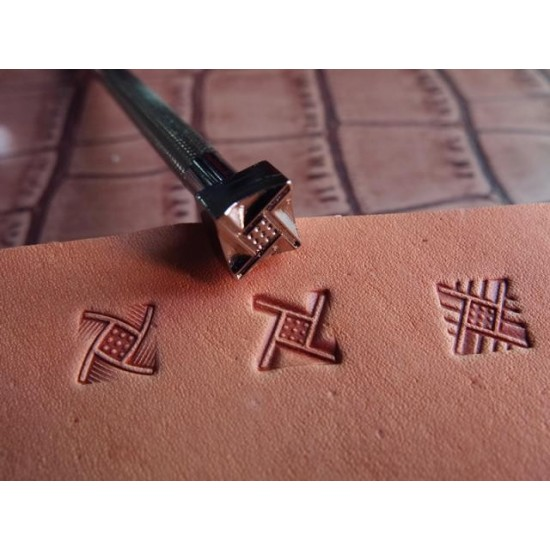leathercraft tool, leather craft tool, leather stamps, Geometric-3