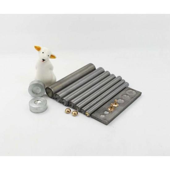 Free shipping worldwide, Mushroom rivet install tool kit, leather tools