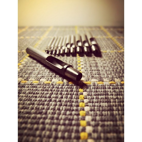 1mm-10mm High quality Round Leather Punches, very sharp, put through leather very easily