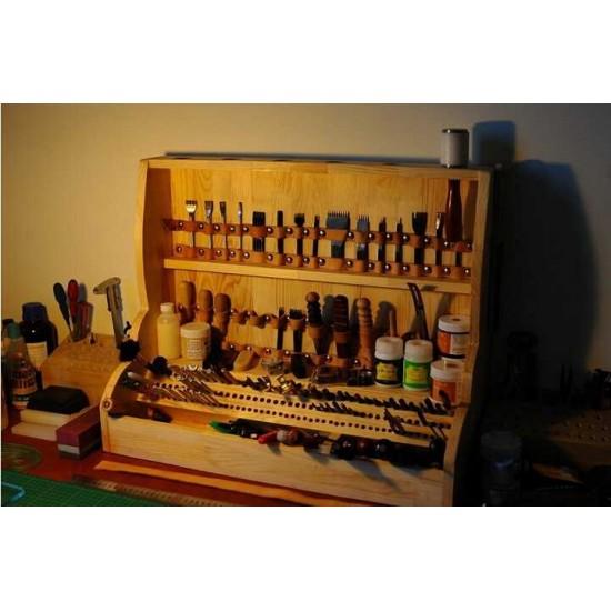 Free shipping worldwide-Leathercraft tools, leather tools shelf, leather tools cabinet, leather stamp stand