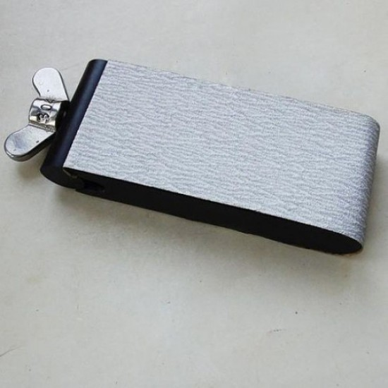 leather tool, sand paper board,  flesh side polisher, African Blackwood, good quality, leather polisher