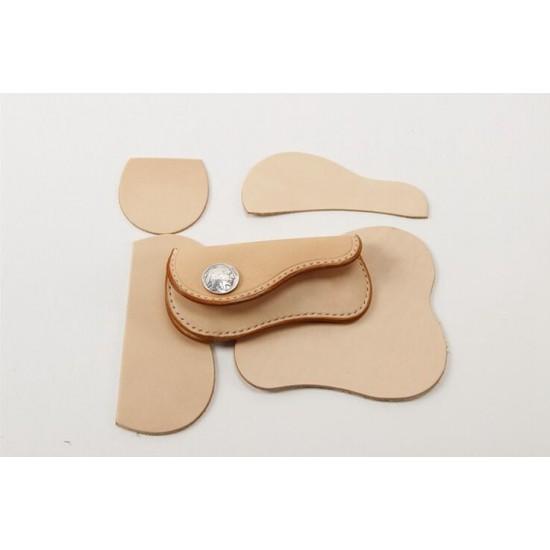 Precut leather material kit coin purse M-33