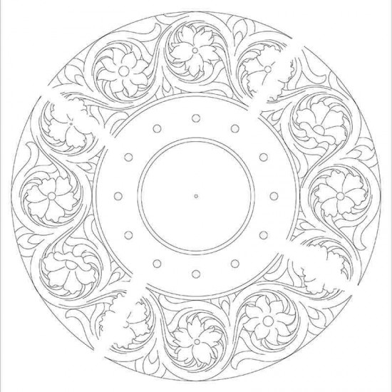 Clock surface tracking pattern,leather-craft pattern, PDF instant download pattern clock-2