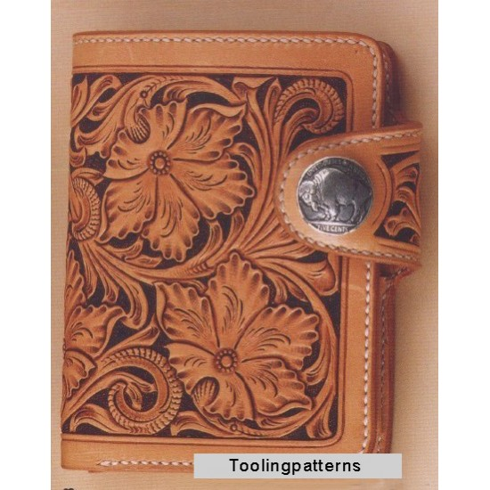 PDF leather craft pattern,leathercraft pattern,MS-04 short wallet tooling pattern,instant download,leather tracking pattern