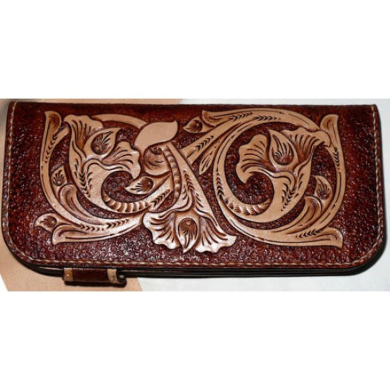 PDF Leather craft pattern long wallet pattern leather purse pattern Instant download western-2 leather tracking patterns