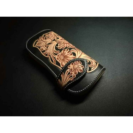 3 in 1 - Leather tracking pattern long wallet pattern leather purse pattern Instant download western-7