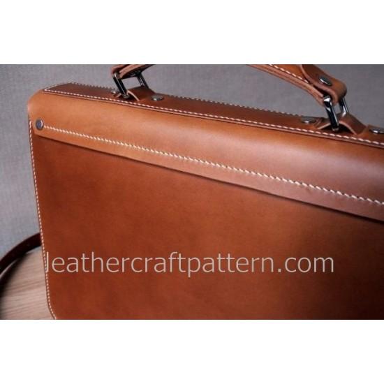Bag Pattern Briefcase Pattern Man shoulder bag PDF ACC-07 leather craft patterns leather art leather supply