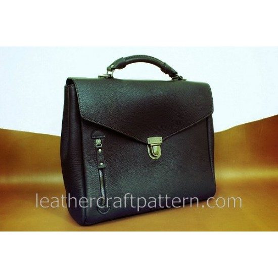 Bag Pattern Briefcase Pattern Man shoulder bag PDF ACC-17 leather craft patterns leather art leather supply