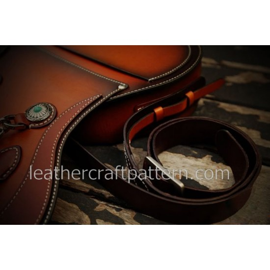 With instruction - Leather bag pattern Harley Davidson motorcycle bag PDF instant download ACC-53