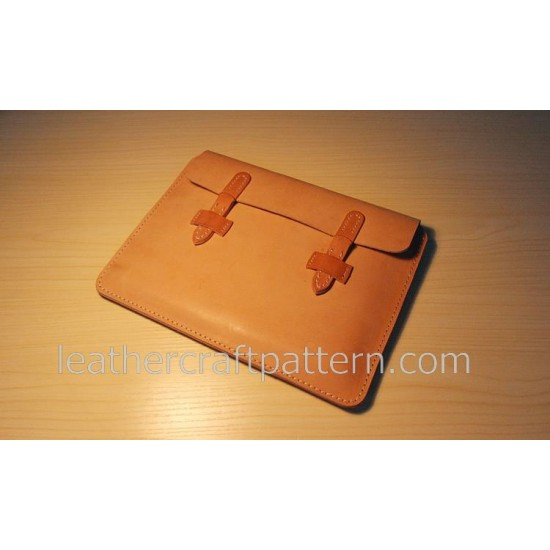 Leather bag pattern briefcase pattern bag sewing pattern PDF instant download ACC-63